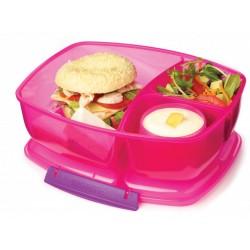 Triple Split Lunch 2 l - Pink - Sistema