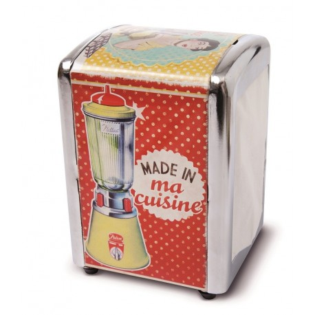 "Servietdispenser ""Made in ma cuisine"""