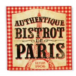 "Servietter ""Bistrot de Paris"""