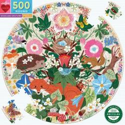 eeBoo rundt puslespil - Woodland Creatures - 500 brikker